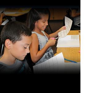 kids cutting paper