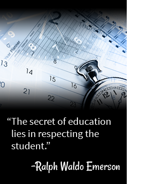The secret of education lies in respecting the student. - Ralph Waldo Emerson