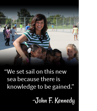 We set sail on this new sea because there is knowledge to be gained. - John F. Kennedy