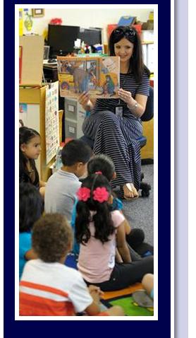 teacher reading a book