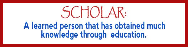 definition of scholar