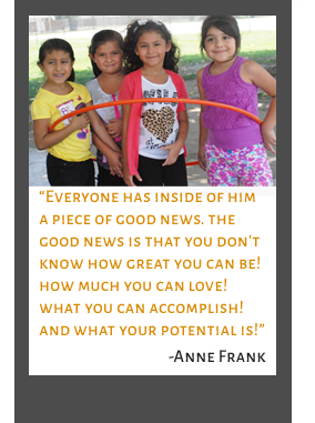 students and Quote by Anne Frank