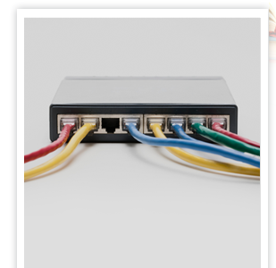 router with data plugs