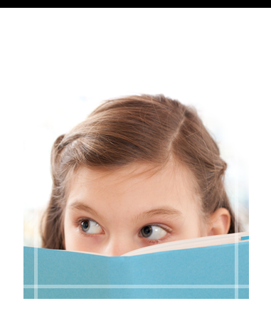 Close-up of Student's Eyes Over Open Book