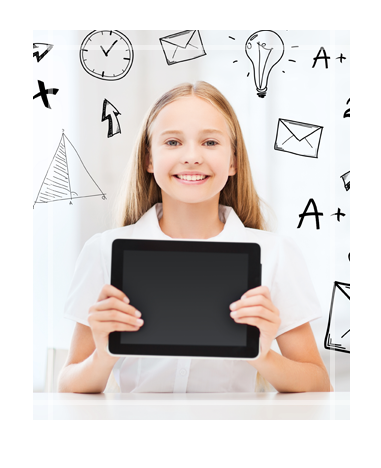 Student Holding Technology Device