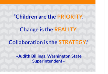 Children are priority. Change is Reality.  Collaboration is the Strategy